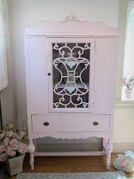pretty in pink antique china cabinet shabby chic pinterest