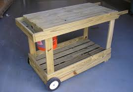 gardening bench how to build a portable potting bench garden cart today s