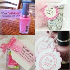 baby shower favor ideas for girl pink baby shower ideas nail with free it s a girl tag