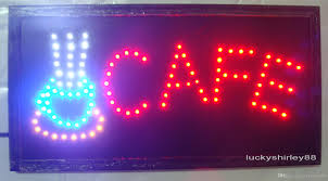 2015 sale customerized animated led cafe sign board size 19x10