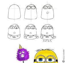 comment dessiner un minion comment dessiner dessiner et papuche