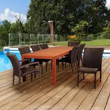 Eucalyptus Outdoor Table by Teak Wicker Patio Furniture Patio Furniture Outdoors The