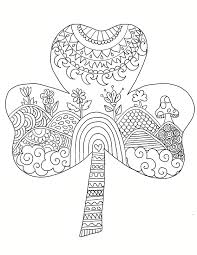 st patrick u0027s day shamrock coloring page ooly
