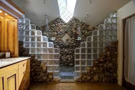 river rock bathroom ideas bullhead mountain lodge master bath with river rock shower