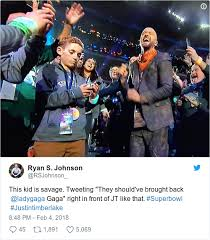 Superbowl Meme - a kid that took a selfie with justin timberlake during his superbowl