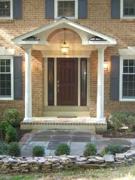 Brick Colonial House Plans by Enchanting Front Porches Designs For Small Houses Also Portico