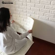 cheap wallpaper pvc buy quality wallpaper blue directly from wall sticker newest effect flexible stone brick wall viny wallpaper self adhesive
