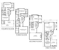 4 story house plans large townhouse floor plans for sale