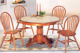 Nice Oak Pedestal Dining Table And Chairs Diner Large Jpg Chair - Tile top kitchen table and chairs