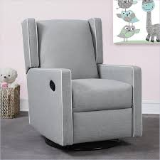 dorel monbebe everston swivel reclining glider in gray 600