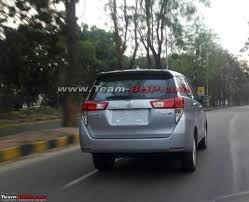 indian car on road toyota innova crysta spotted on indian roads expected to launch