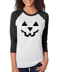 jack o u0026 039 lantern pumpkin halloween costume womens 3 4 raglan