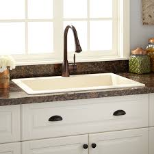 cream kitchen sink signature hardware