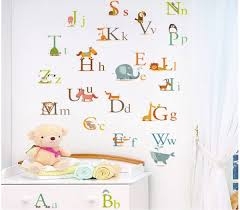 wall stickers wall stickers decals for kids nursery rooms alphabet wall stickers
