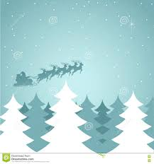 santa claus flying with his sleigh stock vector image 73675556