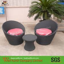 Stackable Wicker Patio Chairs 3pcs Riverside Stackable Patio Set Waterproof Wicker Patio