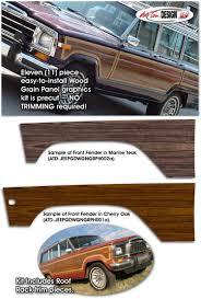 jeep grand wagoneer custom jeep grand wagoneer wood panel graphics kit 1