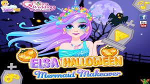 halloween games com elsa halloween mermaid makeover game frozen video games for