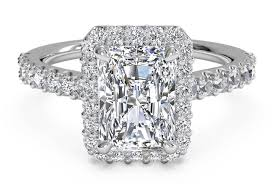 radiant cut halo engagement rings buy radiant cut engagement rings ritani