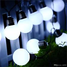 Solar Power Led Outdoor Lights Decorations Lights G50 Solar Power String Light 10 Led