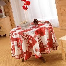 nappe anti tache table ronde 180 cm noël montagnard esprit chalet