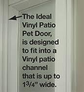 Vinyl Patio Pet Door Vip Vinyl Insulated Pet Patio Doors Ideal Pet Products