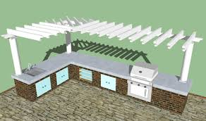 outdoor kitchen designs plans gallery and layout decor images