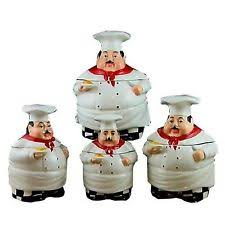kitchen canisters set of 4 chef canister set kitchen bistro 4 pcs ceramic counter top