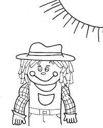 free scarecrow coloring