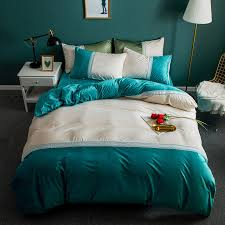 solid green white lace bedding sets princesses crystal farley velvet duvet cover queen king size luxury