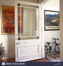 Interior Glazed Doors White by Half Glazed White Door In Traditional Hall With Large Modern