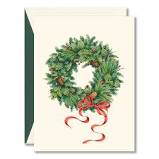 wreath boxed christmas cards