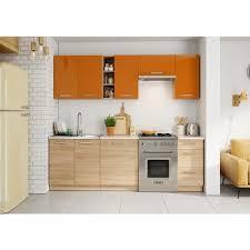 cuisine beige cuisine lena 2m40 7 meubles orange beige achat vente