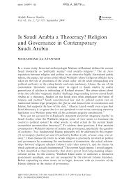 is saudi arabia a theocracy religion and governance in