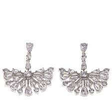 silver chandelier earrings absolute cz sterling silver pear and chandelier earrings