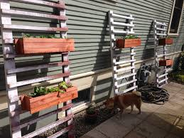 Backyard Planter Box Ideas Inspiring Diy Backyard Planter Boxes Using Reclaimed Wood Painted