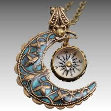 blue moon necklace images Blue moon necklace working compass necklace compass pendant jpg