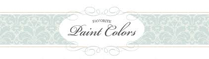 favorite paint colors blog