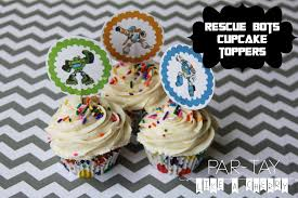 Rescue Bots Cupcake Toppers Party Like a Cherry