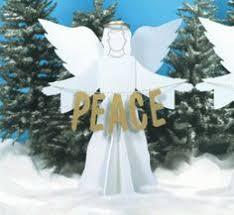 lighted christmas yard angels teak isle christmas outdoor complete nativity scene large