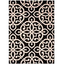 black fretwork pattern outdoor rugs u2013 sky iris