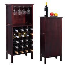 new wood wine cabinet bottle holder storage kitchen home bar w