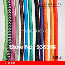 10m lot edison lamp wire color braided wire braided plug wire