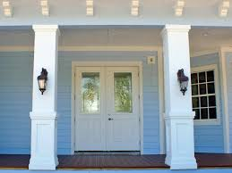 Pillar Designs For Home Interiors How To Install A Porch Railing Hgtv Outdoor Spaces And Porch