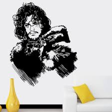 compare prices on game of thrones stickers online shopping buy 57 68cm black wall sticker removable diy jon snow game of thrones wall sticker home