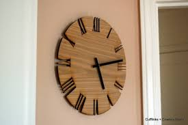 unique style wood wall clock cutout white oak clock moder