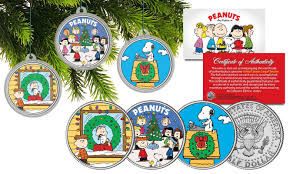 peanuts christmas colorized coins and currency peanuts