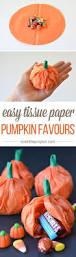calabazas de papel rellenas de caramelos manualidades halloween