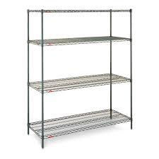 Wire Storage Unit 4 Shelf Shelving Unit Open Structure Wire Mobile 10 01