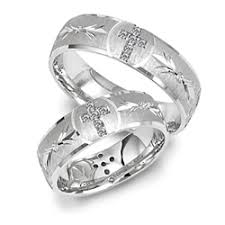 white gold wedding band sets view of 14kt white gold wedding band with cross design set in